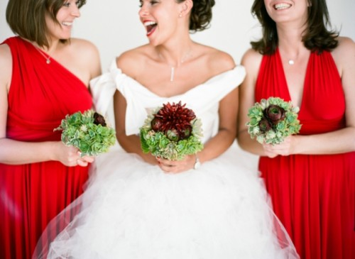Hot Red Southern Italy Wedding With Retro Touches