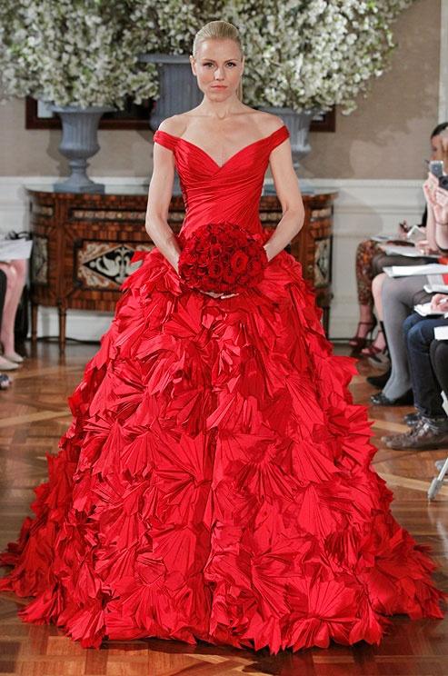 Hot Red Wedding Dresses