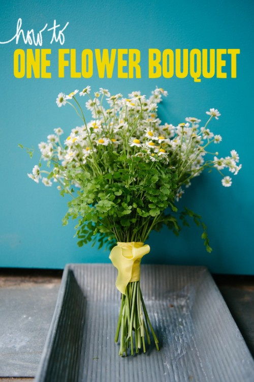 How To Make A Minimal Bridal Bouquet