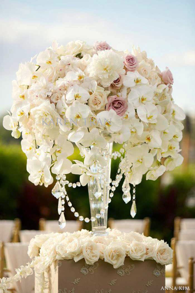 Picture of how to use flowers for wedding decor ideas for Floral wedding decorations ideas