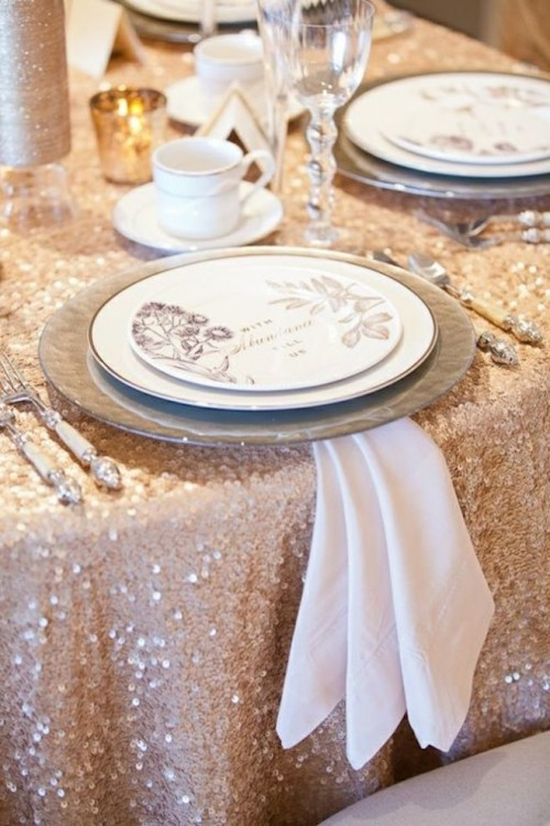 How To Use Sequins In Your Wedding Decor : 21 Ideas
