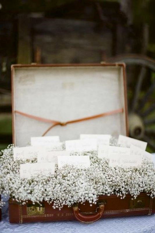 Picture Of how to use vintage suitcases in your wedding decor 30 clever ideas  11