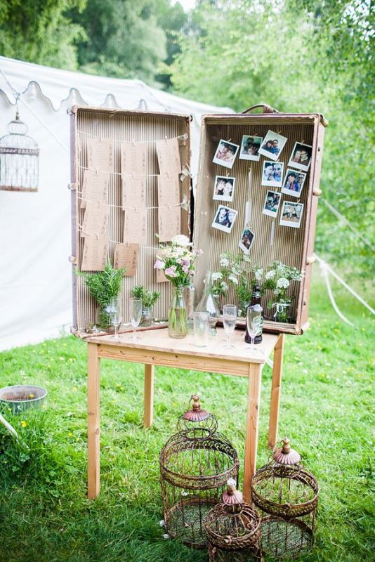Picture Of how to use vintage suitcases in your wedding decor 30 clever ideas  13