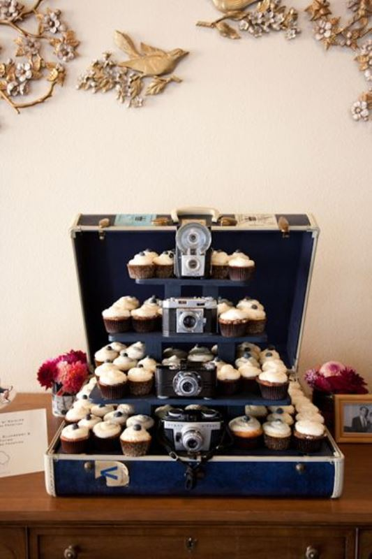 Picture Of how to use vintage suitcases in your wedding decor 30 clever ideas  15