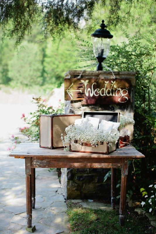 Picture Of how to use vintage suitcases in your wedding decor 30 clever ideas  19