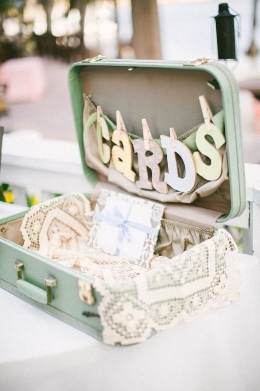Picture Of how to use vintage suitcases in your wedding decor 30 clever ideas  20
