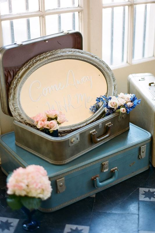 Picture Of how to use vintage suitcases in your wedding decor 30 clever ideas  22