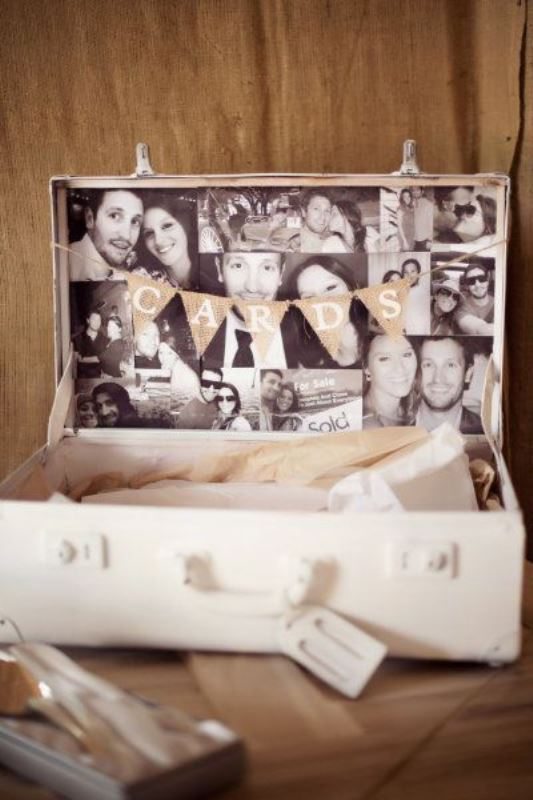Picture Of how to use vintage suitcases in your wedding decor 30 clever ideas  28