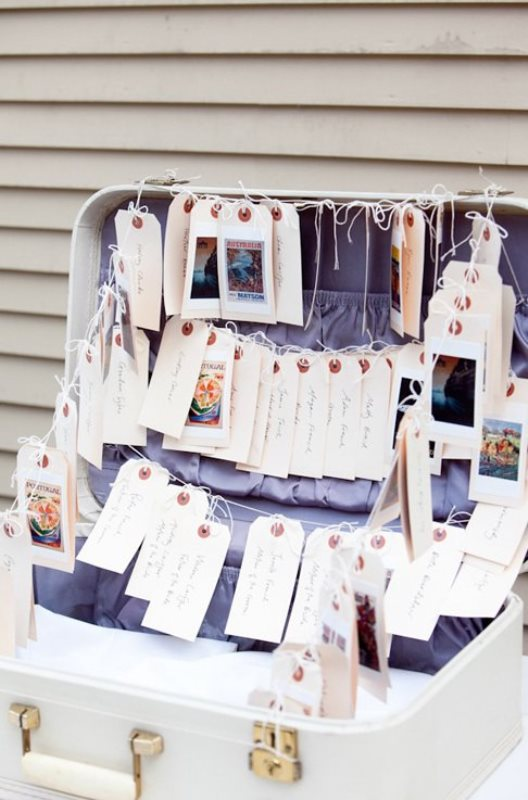 Picture Of how to use vintage suitcases in your wedding decor 30 clever ideas  3