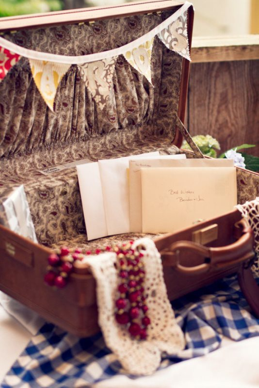 Picture Of how to use vintage suitcases in your wedding decor 30 clever ideas  4