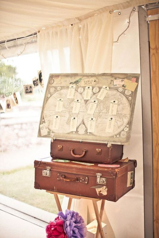 Picture Of how to use vintage suitcases in your wedding decor 30 clever ideas  7