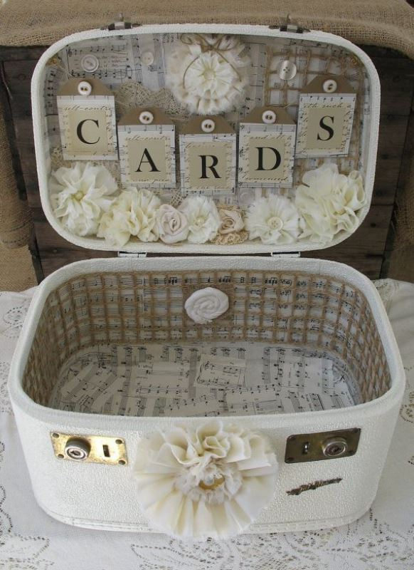 Picture Of how to use vintage suitcases in your wedding decor 30 clever ideas  8