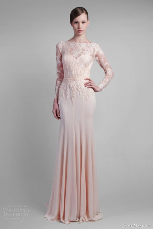 How To Wear A Blush Wedding Dress: 25 Stunning Ideas - Weddingomania