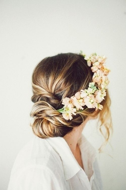 Picture Of incredibly beautiful boho chic bridal hair ideas  11