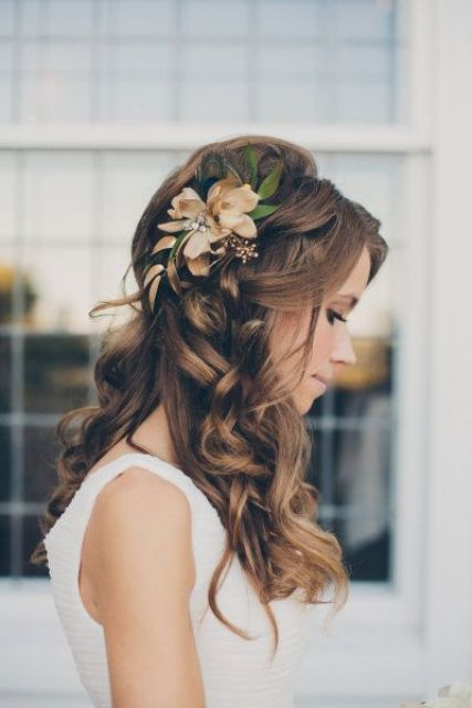 Picture Of incredibly beautiful boho chic bridal hair ideas  12