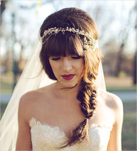 Picture Of incredibly beautiful boho chic bridal hair ideas  13