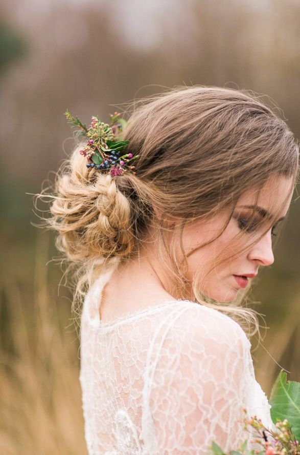 Picture Of Incredibly Beautiful Boho Chic Bridal Hair Ideas 16