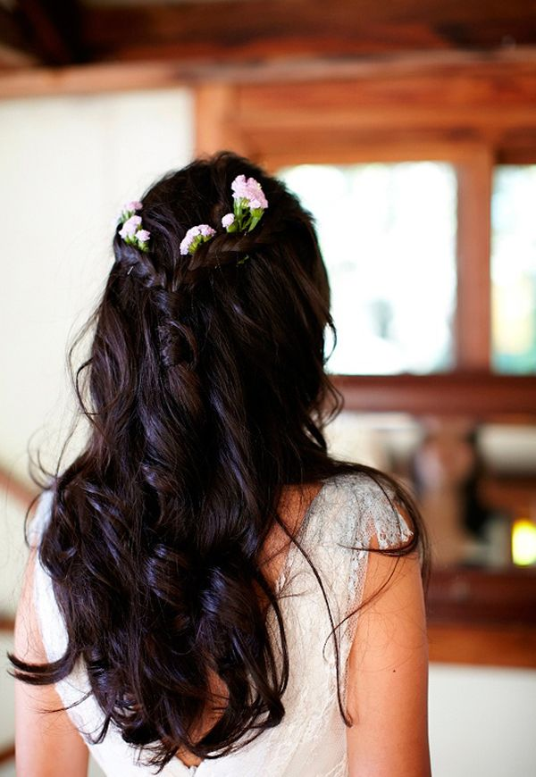 Picture Of incredibly beautiful boho chic bridal hair ideas  25