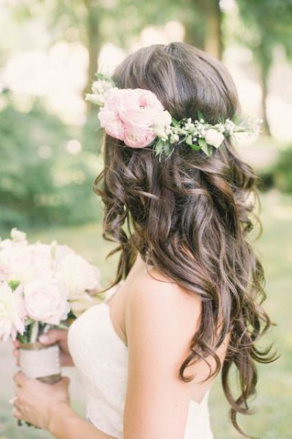 Picture Of incredibly beautiful boho chic bridal hair ideas  3