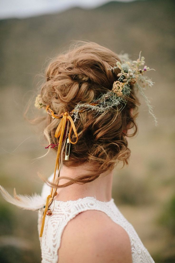 Picture Of incredibly beautiful boho chic bridal hair ideas  31