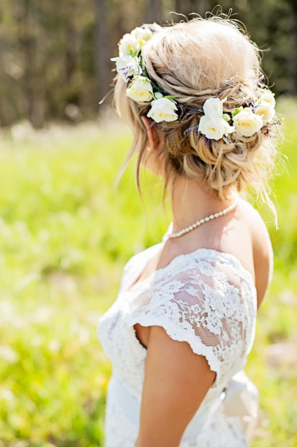 Picture Of Incredibly Beautiful Boho Chic Bridal Hair Ideas 7
