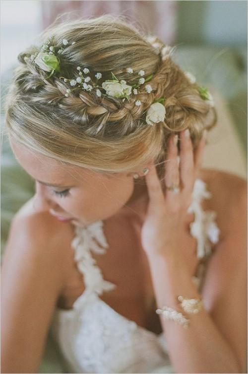 37 Incredibly Beautiful Boho Chic Bridal Hair Ideas ...
