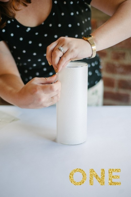 Incredibly Easy And Pretty Diy Vellum Candle Centerpiece