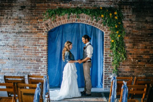 Industrial Chambray Wedding Inspiration