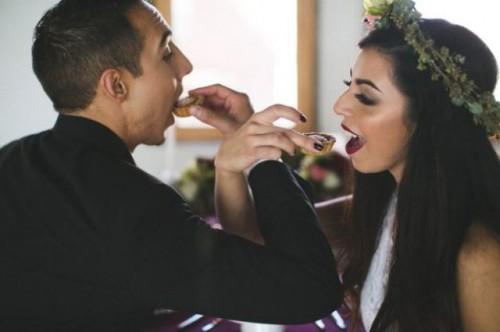 Industrial Glam Marsala Wedding Inspirational Shoot