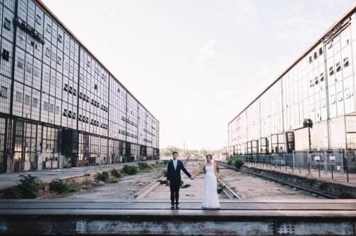 Industrial Warehouse Wedding With Green Touches