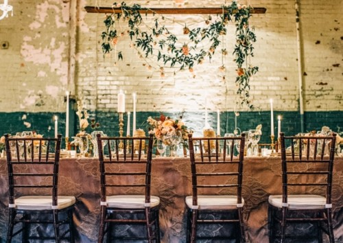 Industrial Yet Elegantly Vintage Wedding Inspiration