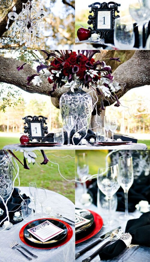 Inspiring And Dramatic Vampire Wedding Ideas