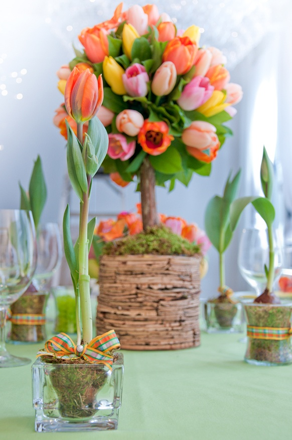 Inspiring And Fresh Spring Wedding Centerpieces