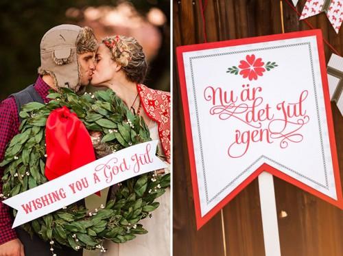 Inspiring Swedish Christmas Wedding Theme