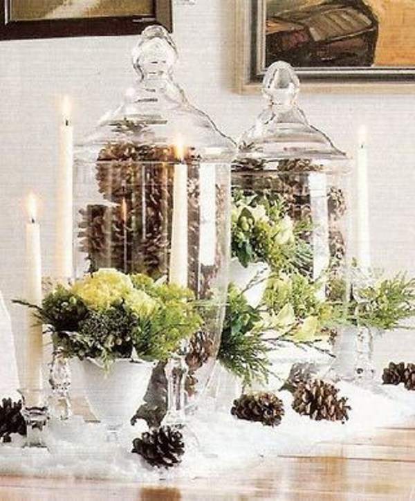 Picture of inspiring winter wedding centerpieces