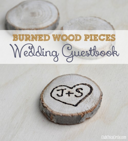 Interactive DIY Burnt Wood Guest Book