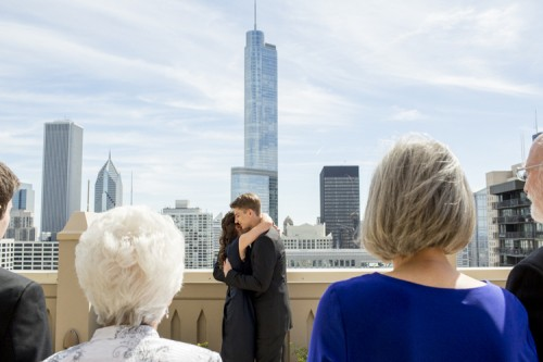 Intimate And Casual Chicago Rooftop Wedding