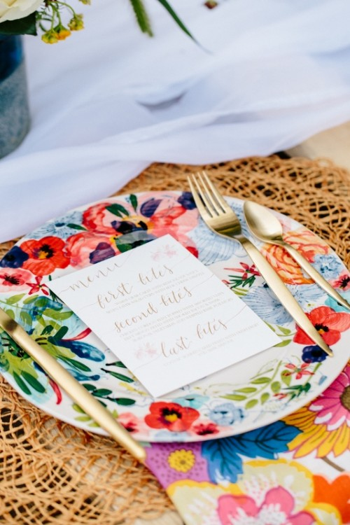 Intimate And Colorful Boho Beach Wedding Inspiration