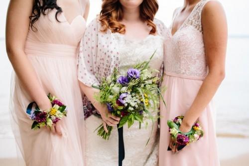 Intimate And Colorful Boho Beach Wedding Inspiration