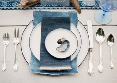 Intimate And Gentle Coastal Blue Wedding Inspirational Shoot