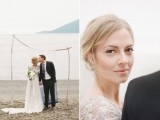 Intimate And Gentle Coastal Blue Wedding Inspirational Shoot