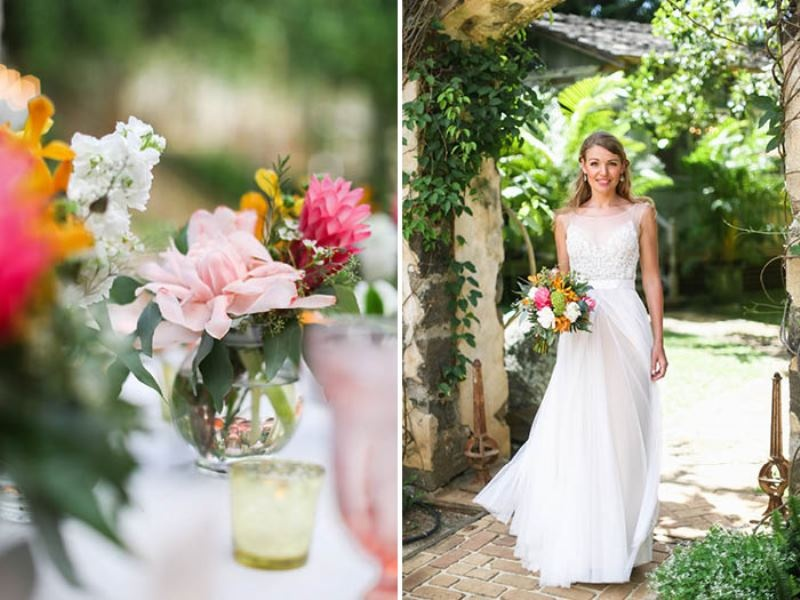 Picture Of intimate and glamorous hawaiian wedding inspiration  12