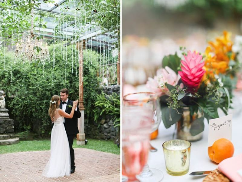 Picture Of intimate and glamorous hawaiian wedding inspiration  22