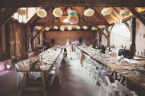Intimate And Lovely Boho Luxe Barn Wedding