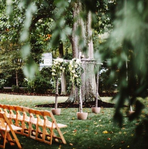 Intimate And Sweet Rustic Inspired Pennsylvania Backyard Wedding