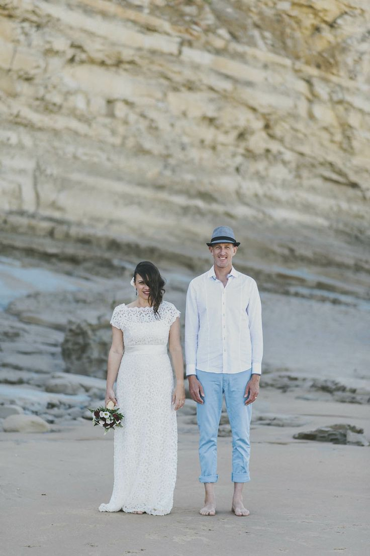 Intimate Beach Ceremony Of An Australian Couple In France