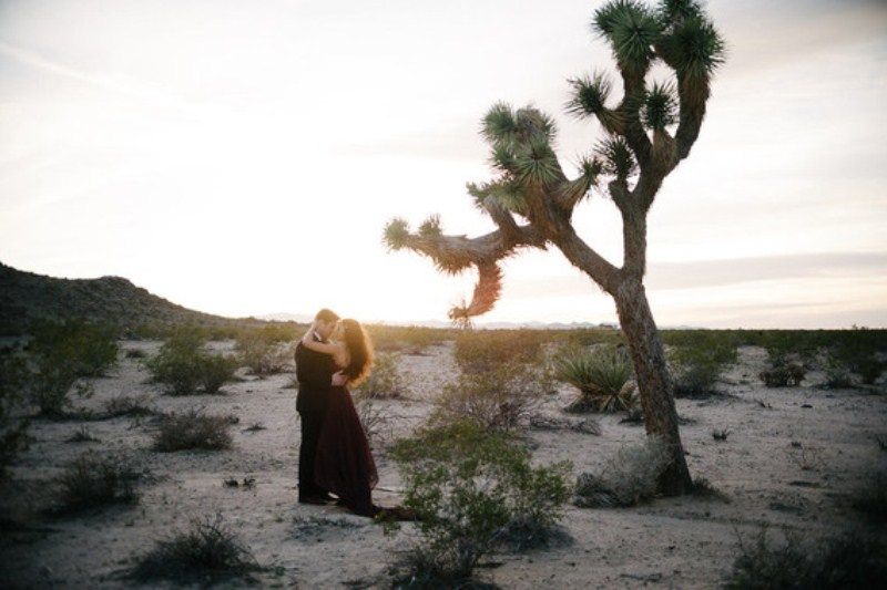 Picture Of intimate bohemian desert fall wedding inspiration  6