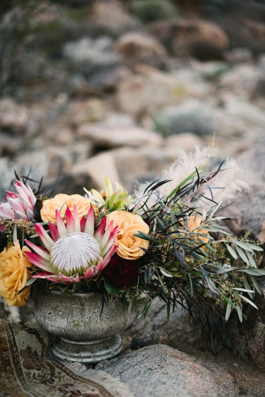 Picture Of intimate bohemian desert fall wedding inspiration  7
