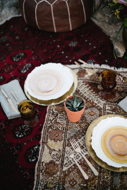 Picture Of intimate bohemian desert fall wedding inspiration  9