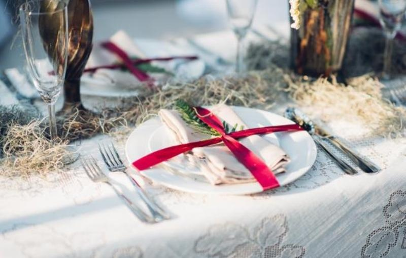 Picture Of intimate bohemian woodland wedding inspiration  11